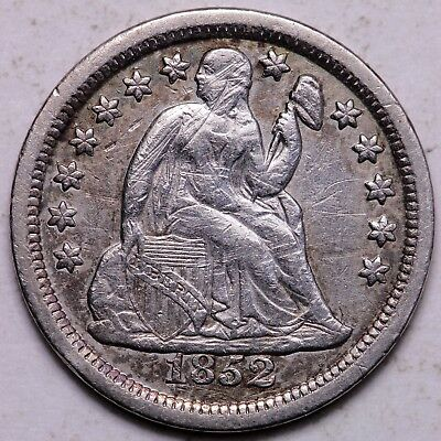 XF Details 1852 Seated Liberty Dime - K4ACN