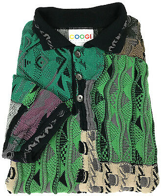 Vintage COOGI Sweater XL Mens Mercerised Cotton Australia 90s Biggie Hip Hop Sz