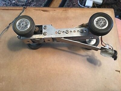 1/24 Scale K & B Extendable Aluminum Slot Car Chassis with working motor