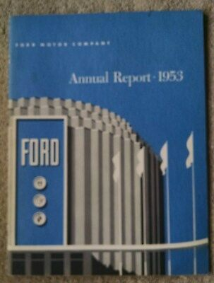 1953 Ford Motor Company Annual Report financials production illustrated VG