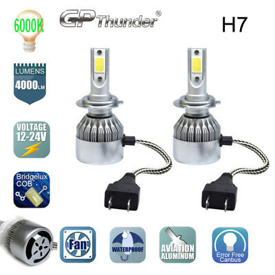 2017 New H7 Led Car Headlight Kit Bulb 6000K Replacement Hid Xenon