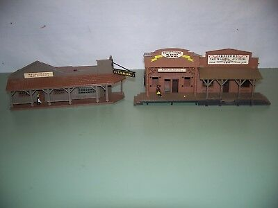 Ho Scale Western Buildings  Marshall Restaurant Bank And Store For Restoration