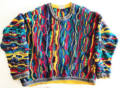 Coogi  Sweater Vintage mercerized YBGOR label Cotton Size Large Australia