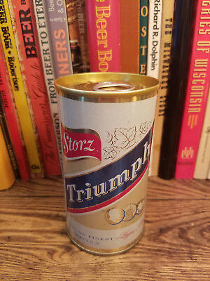 Storz Triumph 12oz Pull Tab Pull Ring Beer Can High Grade!