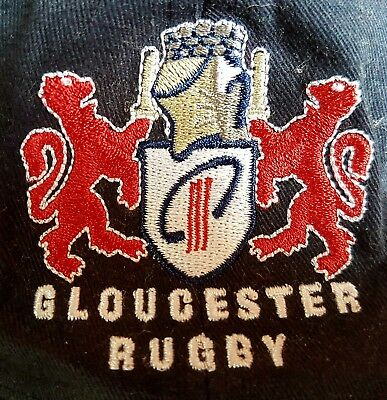 Gloucester Rugby Union Baseball Cap Hat Cherry Whites Kingsholm Navy Red White