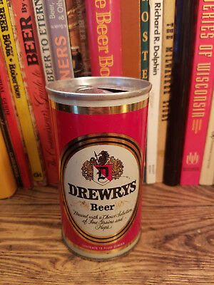 Drewrys 12oz FAN Tab Pull Ring Beer Can High Grade!