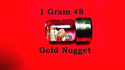 (W) Gold Nuggets out of the American River # 8 Mesh 1 Gram