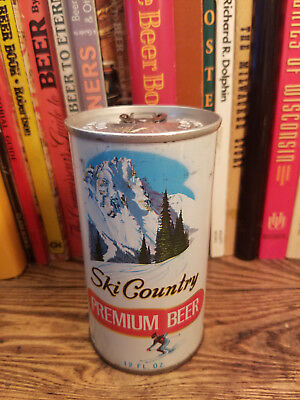 Ski Country Premium 12oz Pull Tab Pull Ring Beer Can High Grade!