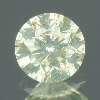0.23 cts CERTIFIED Round Brilliant Light Yellow Color Loose Natural Diamond 7754