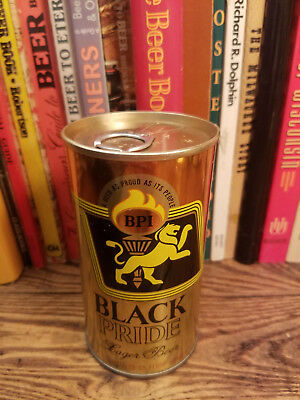 Black Pride Lager 12oz Pull Tab Pull Ring Beer Can  High Grade!