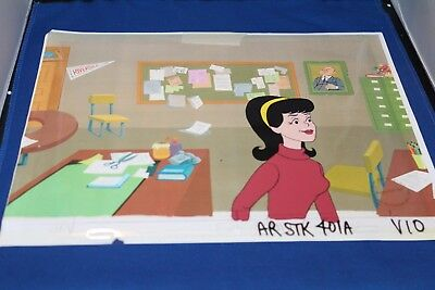 "Archie Cartoon ""Veronica"" Original Production Animation Art Cel RARE 1971. COA"