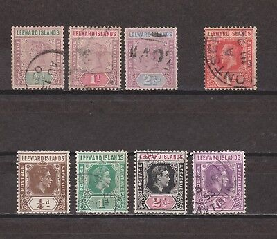 Leeward Islands Mostly Used Selection with Early Victorian Issues