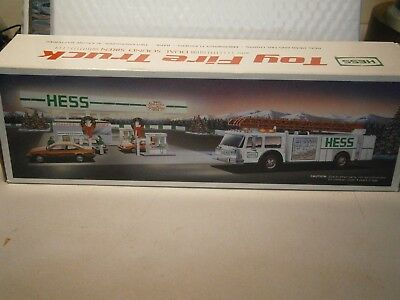 Hess Toy Fire Truck Bank Dual Sound Siren In Box No Batteries Included
