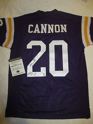 Billy Cannon Signed LSU Tigers Jersey (Purple), SSM Auth