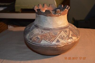 Rare 1880 - 1900  Moki  Indian Pot * Pueblo Native American  Pottery Antique Jar