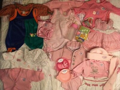 """""""Baby Born"""" Bundle Of Girl Doll Clothes & Accessories • Zapf Creations • VGC"""