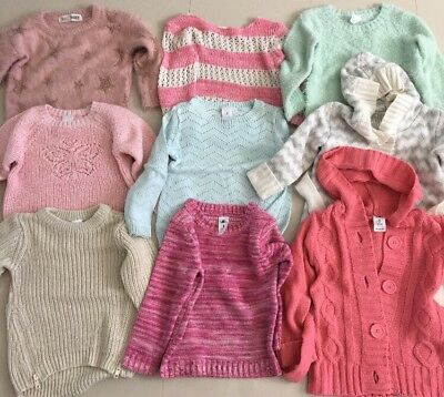 9x Girls Jumpers / Tops Size 3