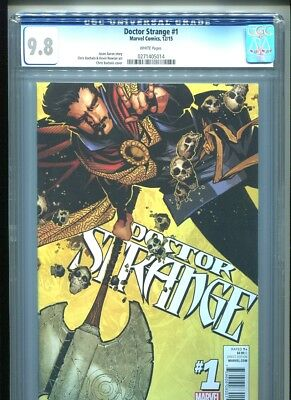 Doctor Strange #1 (2015) CGC 9.8 WHITE pages Aaron & Bachalo (1st print)