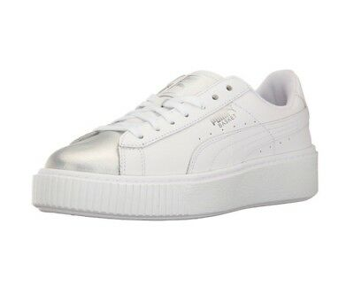 b1ae8bf513e PUMA BASKET PLATFORM Iridescent Casual Shoes - Women s Size 6.5 ...