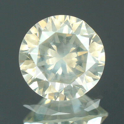 0.76 cts. CERTIFIED Round Cut Fancy Gray Yellow Color Loose Natural Diamond 8242