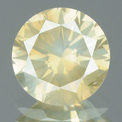0.83 cts. CERTIFIED Round Brilliant Cut Yellow Color Loose Natural Diamond 9186