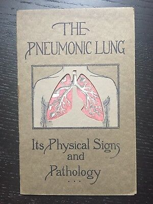 Antique Booklet Pneumonic Lung Signs And Pathology Denver Chemical Mfg Co 1920
