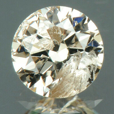 0.26 cts. CERTIFIED Round Cut Light Pink Brown Color Loose Natural Diamonds 7663