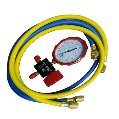 Mini Split System Low Side Charging Manifold, Pressure Gauge, Hose Set