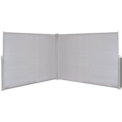 #1.8x6m Retractable Side Awning Privacy Screen Shade Patio Garden Terrace Grey