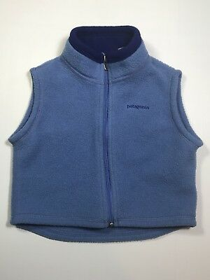 Patagonia Toddler Vest Full Zip Blue Size 18 Months