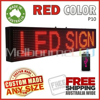 LED SIGN 1M RED Scrolling Programmable Moving Message Window Display 990x190mm