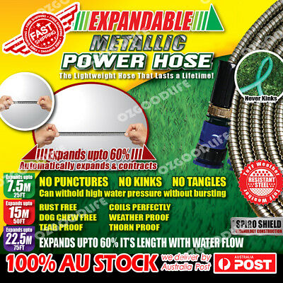 Expandable metallic Stainless Steel power hose Garden Car Wash As Seen On TV
