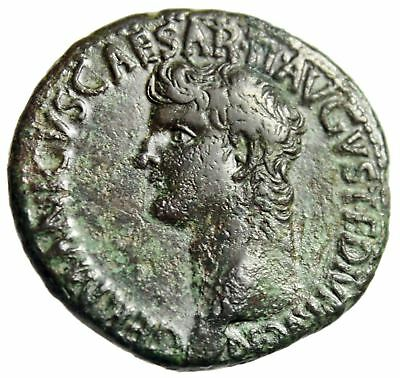 """Germanicus (Father of Caligula) AE As """"Bust & Large SC"""" 37-38 AD RIC 35 VF"""