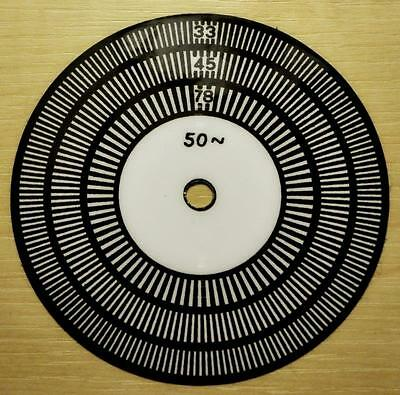HIFI TURNTABLE STROBE DISC NEW DESIGN 50Hz (UK) easier to see