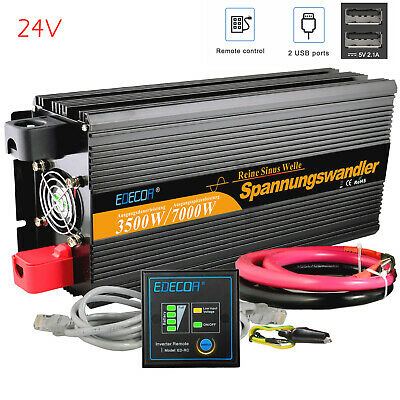 Convertisseur 3500W 7000W  24V 220V 230V Onde pure Inverter onduleur DC to AC RV