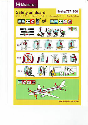 Safety card Monarch Boeing 737-800 (May 2017)