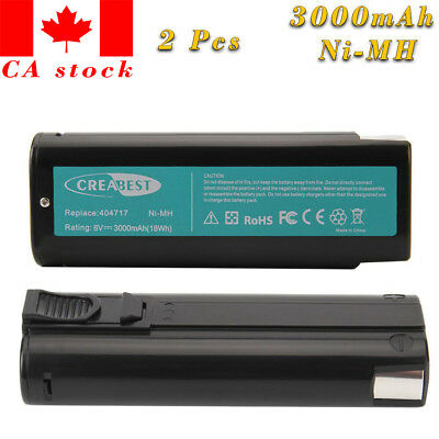 2x 3.0AH 6V Battery for PASLODE 404717 IM250A IM350A IM65A CF325 Cordless Nailer