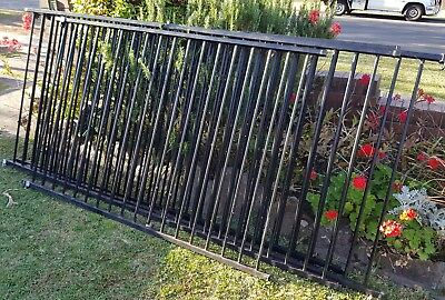 pool fence 1180mm high panels flat top round tube