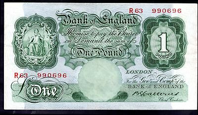 Catterns: Bank Of England, One pound, (1930), R63 990696, (Duggleby; B 225), ...