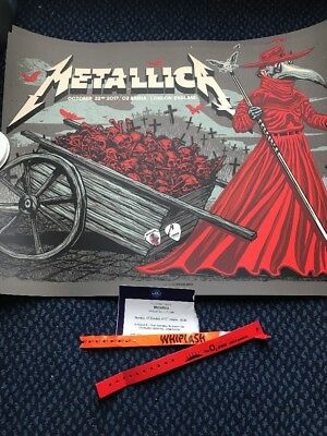 Metallica LONDON O2 arena Worldwired Tour 22 Oct 17 Munk One Poster Print RARE