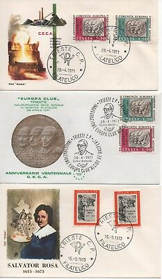 ITALY - 21x First Day Covers - from 1967, 1968, 1971 and 1973