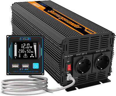 Convertitore 3000W 6000W DC 12V AC 220V Power Inverter trasformatore RV Remote