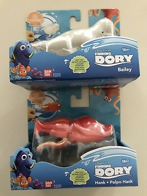 Finding Dory - Hank & Bailey - 2 X Bath Wind Up Toy - Brand New From UK Seller