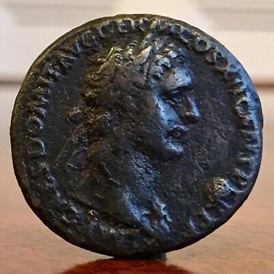 Domitian, 81-96AD. Ae Coin. Fides Holding A Plate Of Fruit. 27mm.