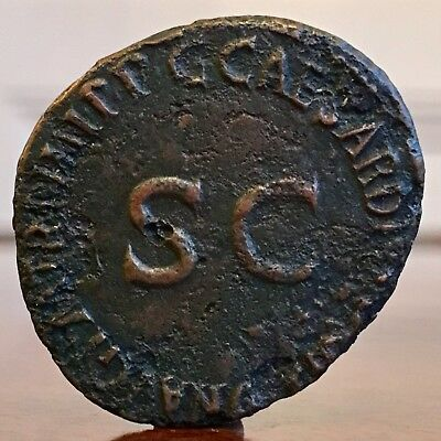 Germanicus, Born 15 B.C. Ae Coin. SC. 29mm Widest Point.