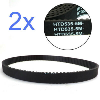 2 Pieces Drive Belts Timing Belt HTD 535 5M 15