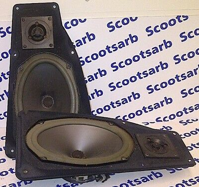 SAAB 9000 Main Rear Speakers x2 Pair Left & Right 4084315 Genuine Working Tested