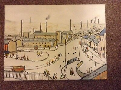 """""""A  Northern Lancashire Town """".    direct from artist john Goodlad  """"Varnished"""""""