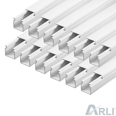 Cable Channel 25 x 25 mm PVC 59.04 ft Tray installationskanal Electric Canal