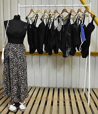 Job Lot X10 Vintage Womens Black Swimsuits In A Range Of Styles. (97)